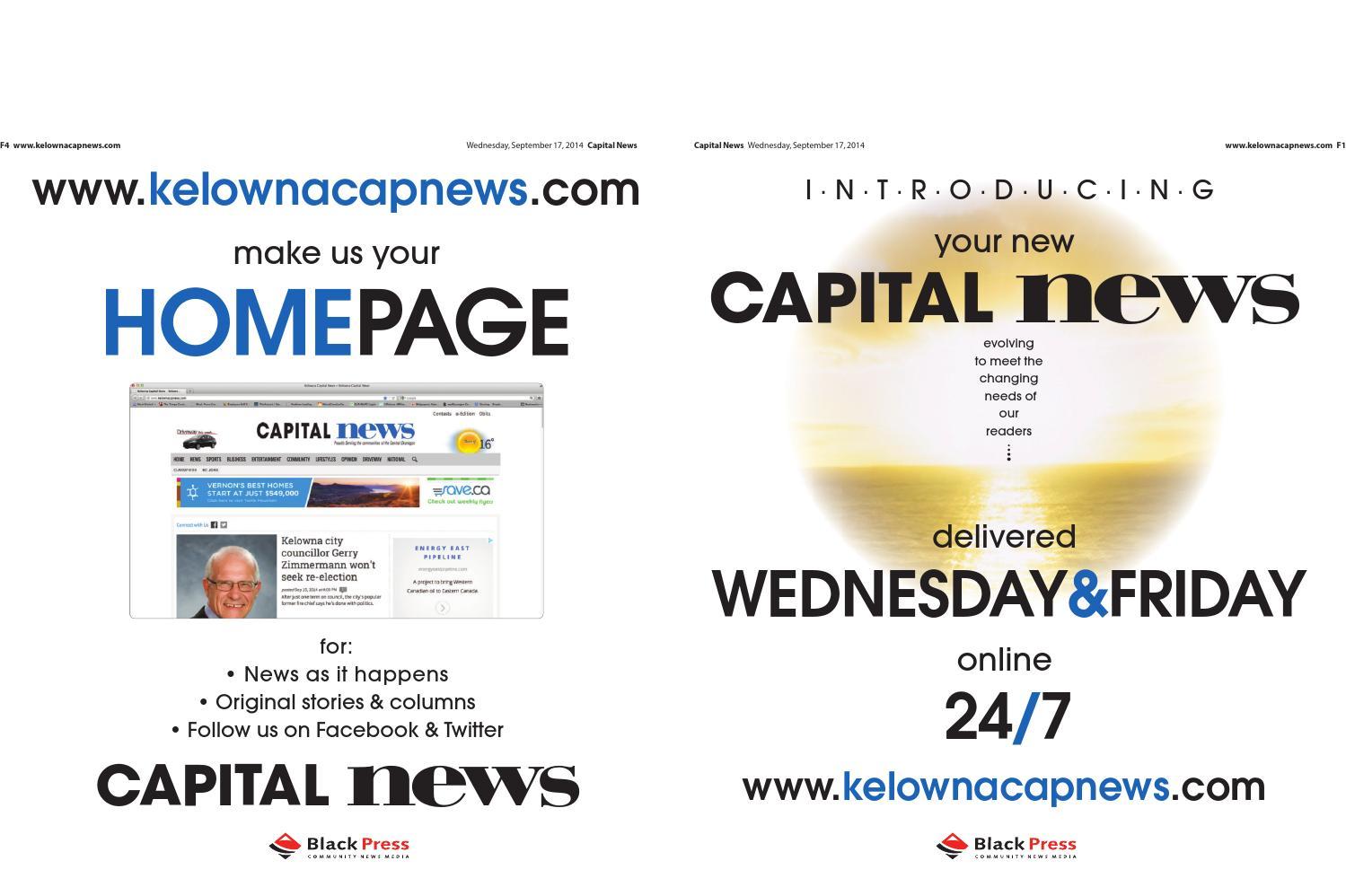 Kelowna Capital News, September 17, 2014 by Black Press - issuu