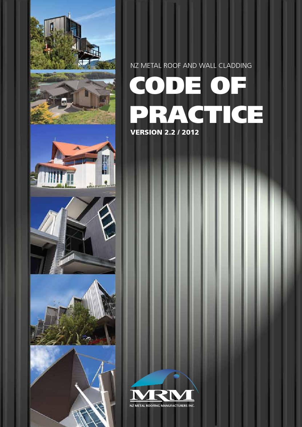 Roofing Code Of Practice 2013 By Metal Design Solutions Issuu