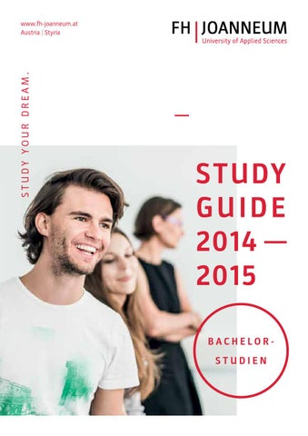 Study Guide 2014/2015 by FH JOANNEUM - University of Applied ...