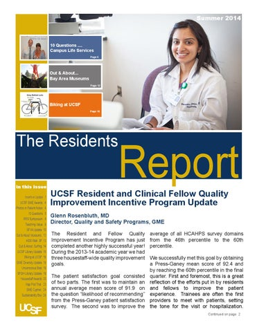 Summer 2014 - The Residents Report by GME UCSF - issuu