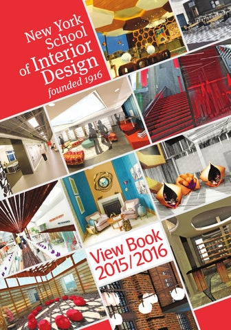 Nysid View Book 2015 2016 By New York School Of Interior