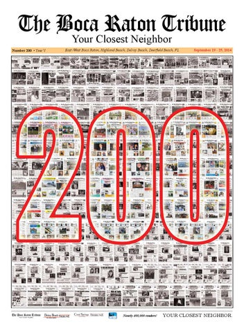 The Boca Raton Tribune ED 200 by The Boca Raton Tribune - issuu