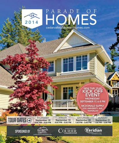 Cedar Valley Parade Of Homes 2014 By Waterloo Falls Courier