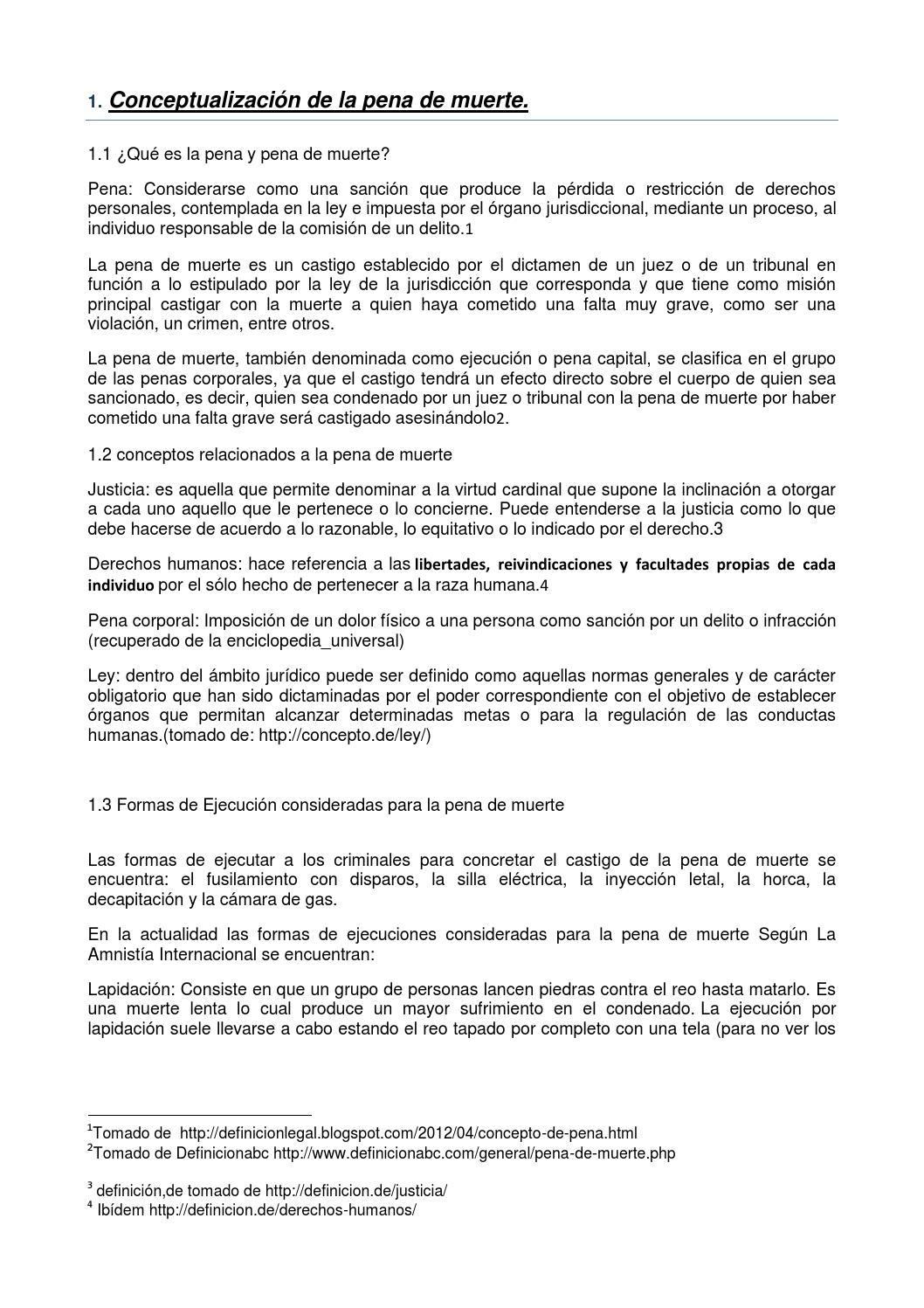 Marco teorico, pena de muerte 1 (1) by Mario Arias - issuu