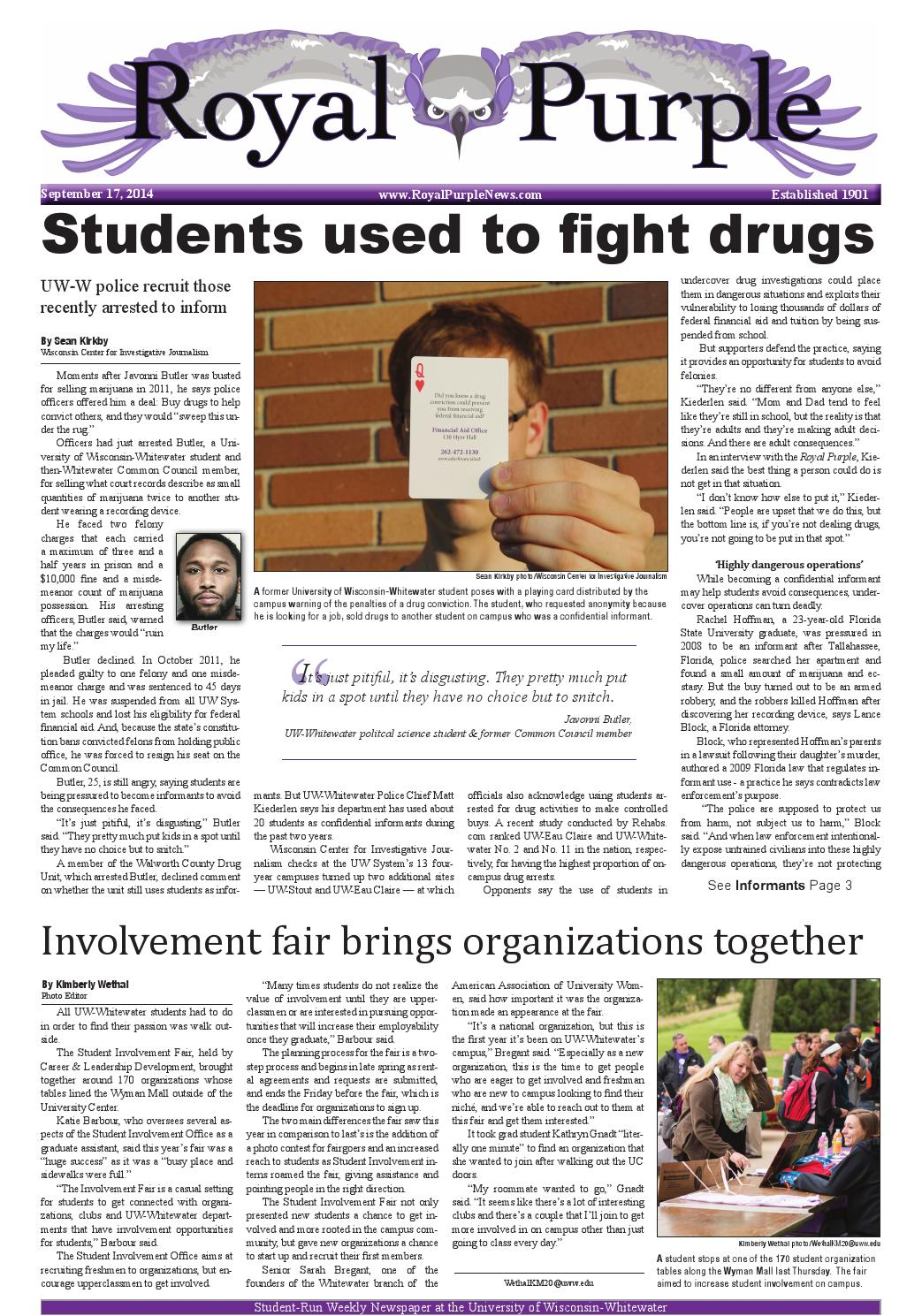 September 17 issue by Royal Purple News - issuu