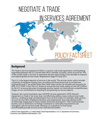 Trade In Services Agreement Factsheet By Wcit Issuu