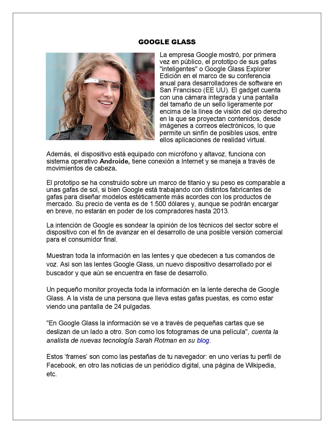 Google glass by Carlita Melissa - issuu