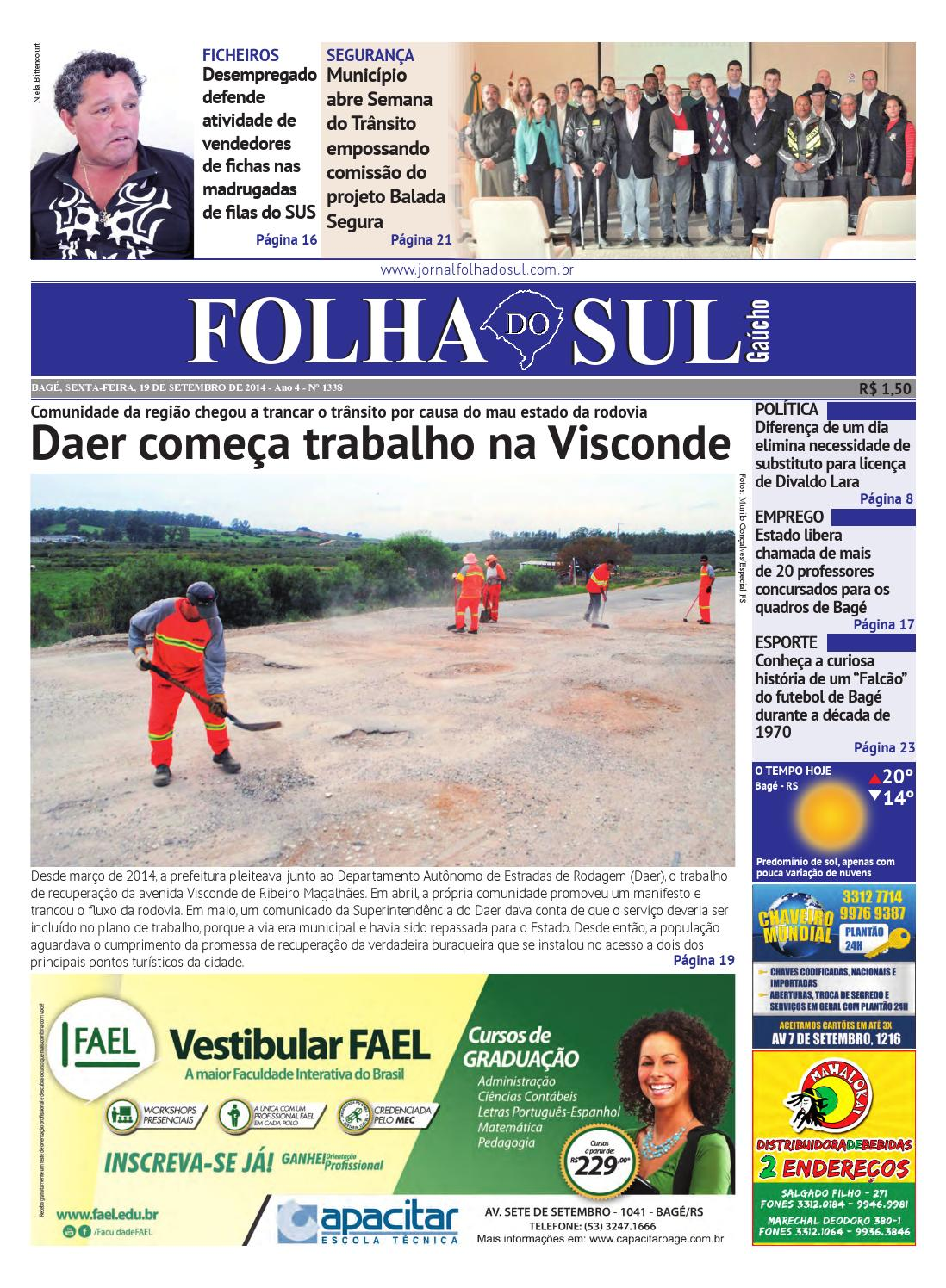 923e7ecc3 Folha do Sul Gaúcho Ed. 1338 (19 09 2014) by Folha do Sul Gaúcho - issuu