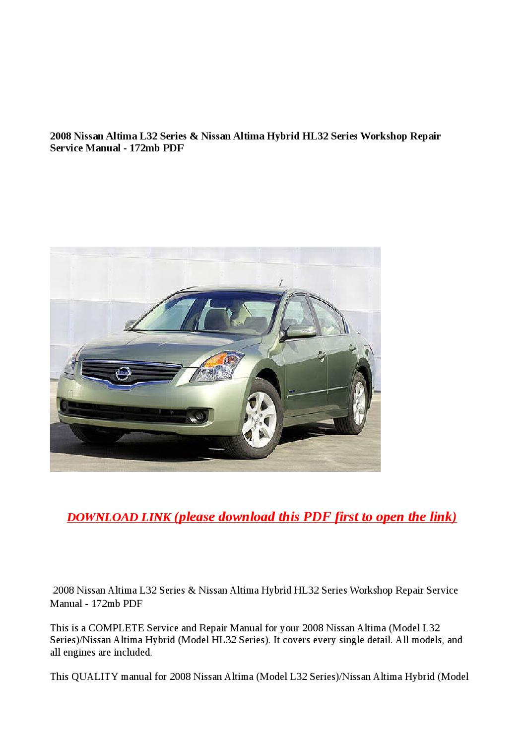 2007 Nissan Altima - Owner s Manual (344 pages)