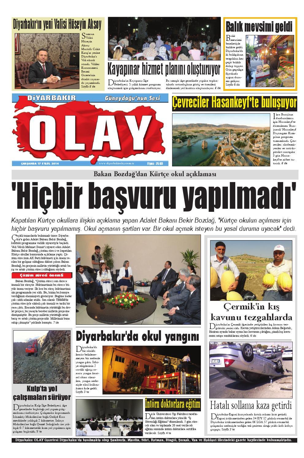 17 09 2014 Gazete Sayfalari By Diyarbakir Olaygazetesi Issuu