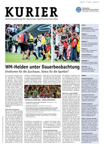 KURIER 04/2014 by Deutsche Sporthochschule Köln - issuu