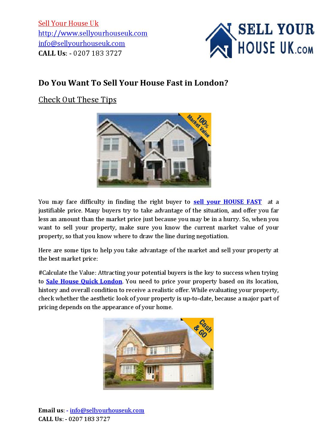 Good Sell My House Property Fast London Uk By Sellyourhouseuk   Issuu