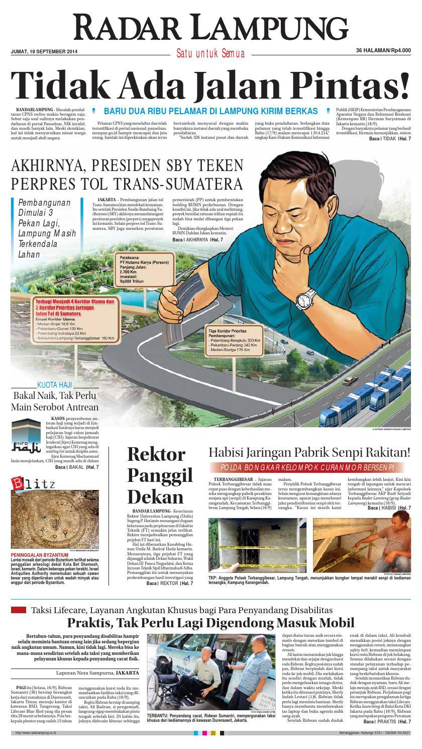 Radar Lampung Jumat 19 September 2014 By Ayep Kancee Issuu Pierre Cardin Pc106591f09 Silver Kombinasi Gold