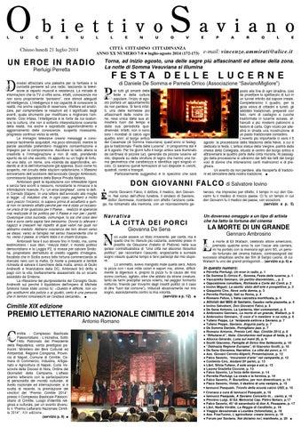 Luglio Agosto 2014 Obiettivo Saviano By Antonio Simonetti Issuu