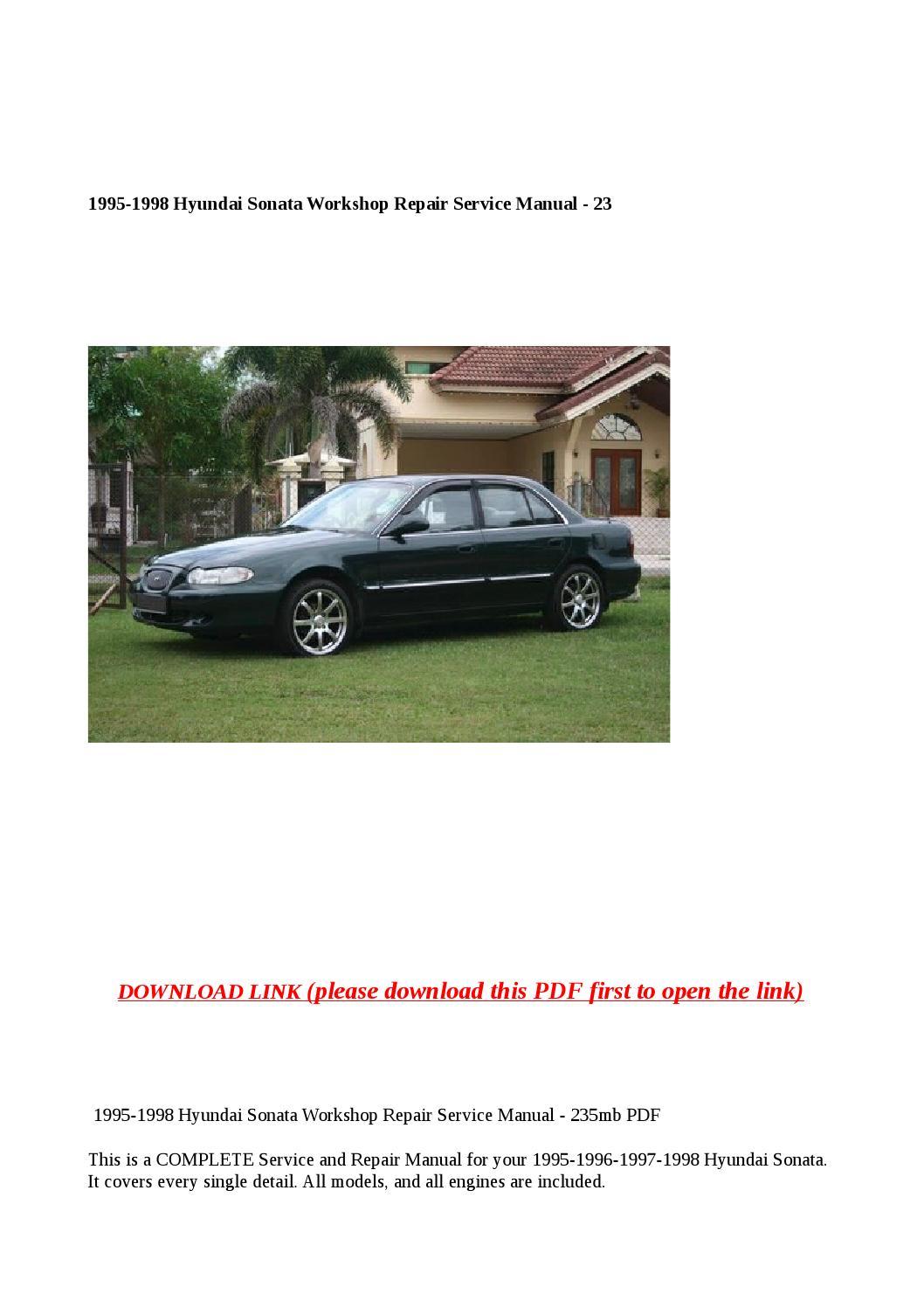 1995 1998 hyundai sonata workshop repair service manual 23 ...