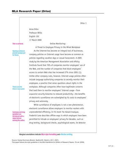 Example MLA Paper by Samantha - issuu