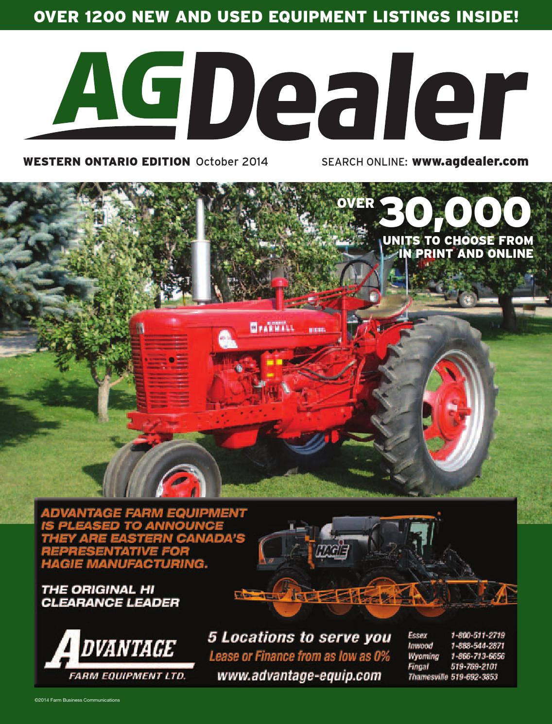 AGDealer Western Ontario Edition, October 2014 by Farm Business  Communications - issuu
