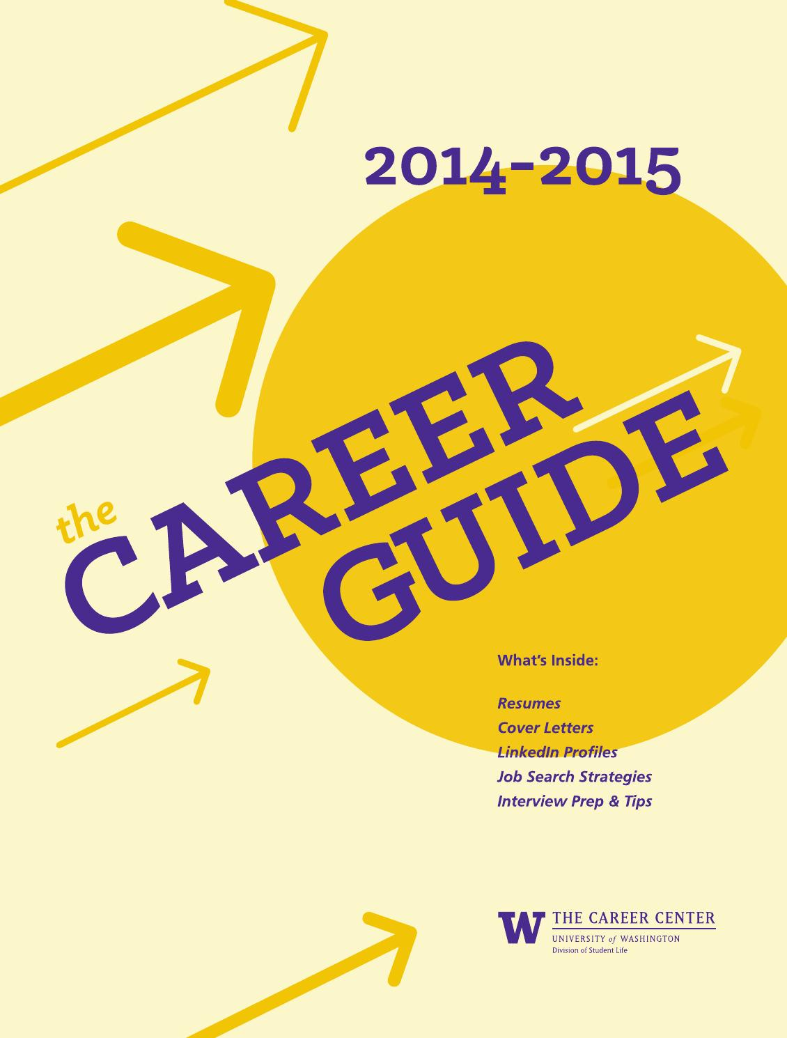 2014 2015 Career Guide By The Career Center Of The University Of