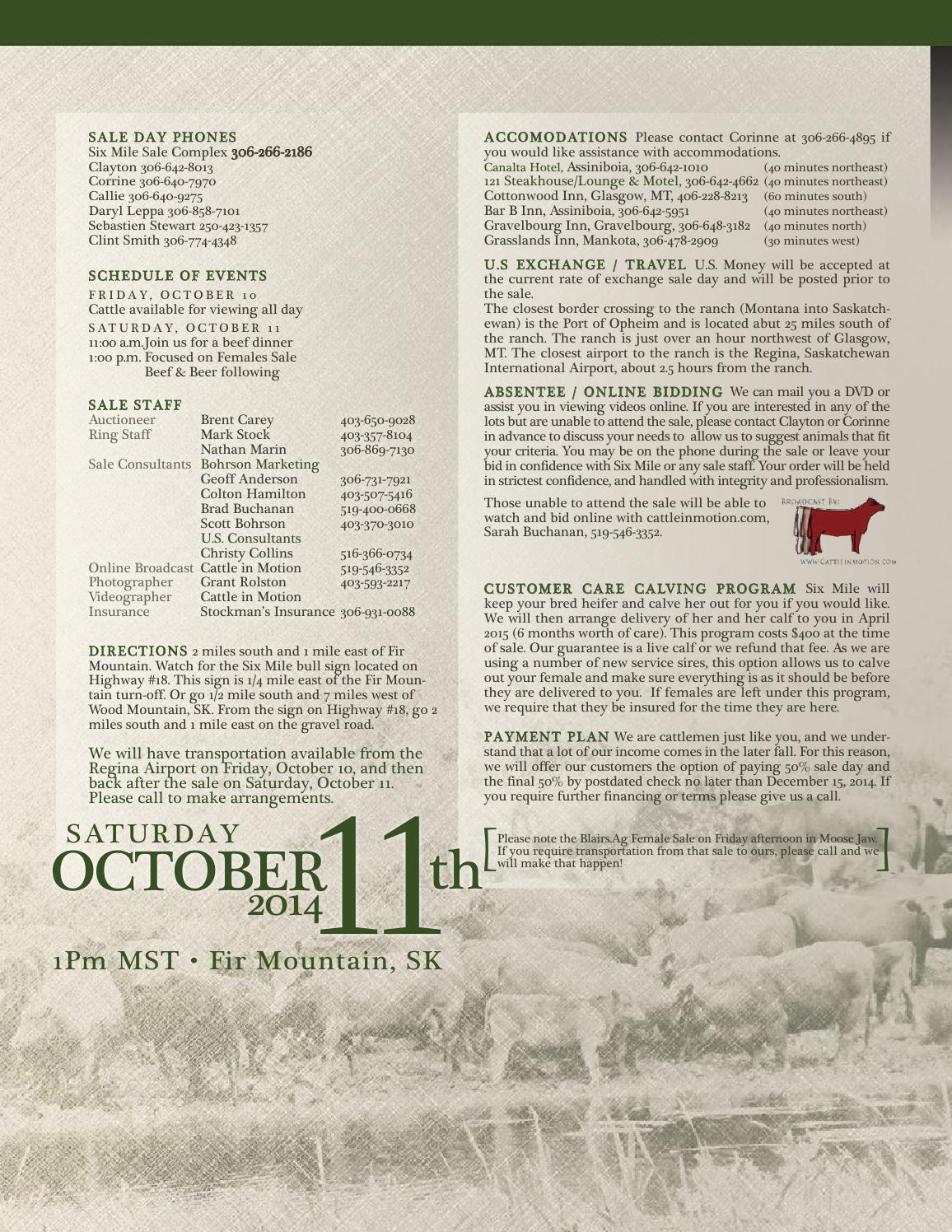 Six Mile Ranch Focused on Females Sale 2014 by Today's