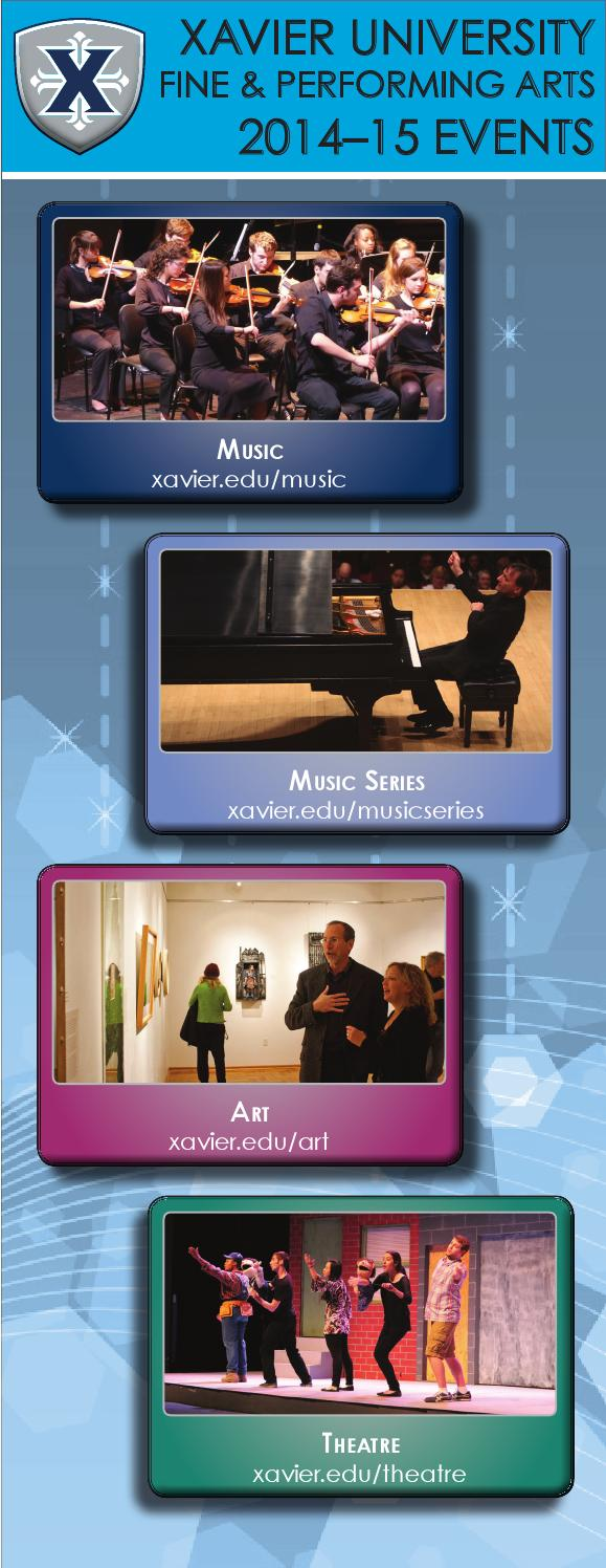 Xavier University Fine & Performing Arts 2014-15 Events by ...