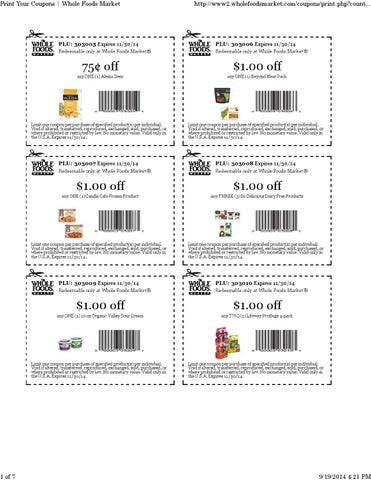 image about Cliff Bar Printable Coupons identified as Total Food stuff Printable Discount codes In the course of 11-30-14 as a result of Discount coupons