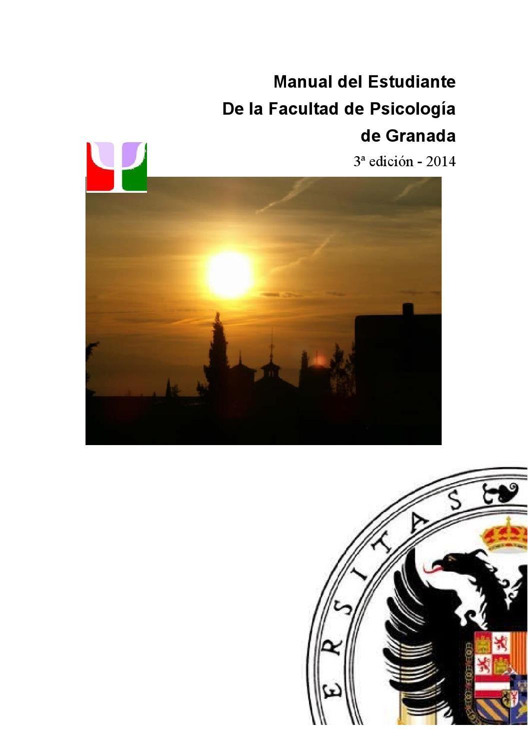 Manual del Estudiante de la Facultad de Psicología (3ª Edición) 2014 ...