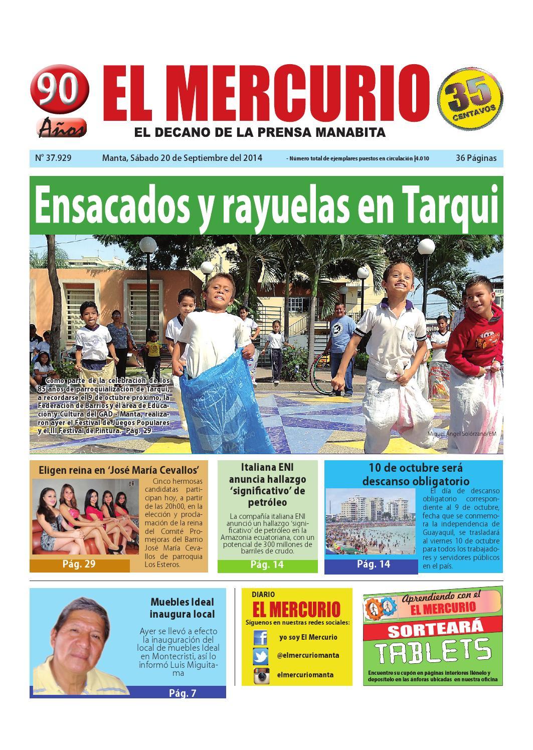 Mercurio Sabado 20 De Septiembre Del 2014 By Diario El Mercurio  # Muebles Cevallos