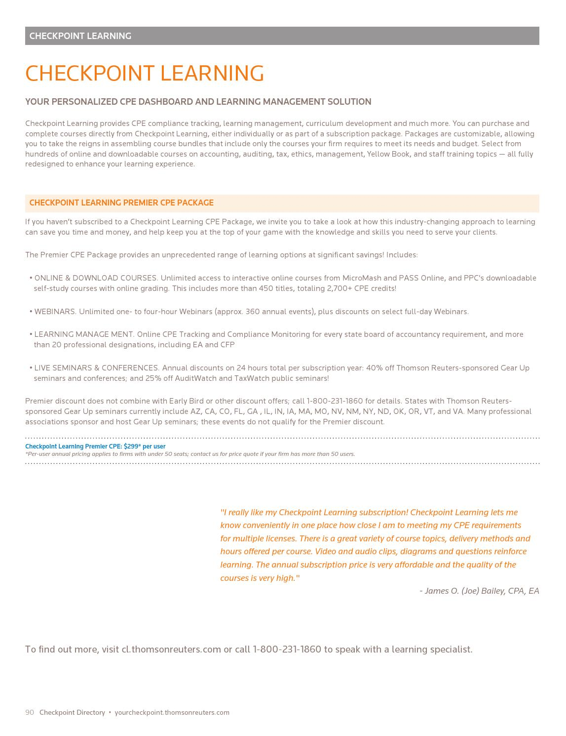 Thomson Reuters Checkpoint Catalog by khosley - issuu