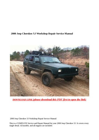 2000 jeep cherokee service manual