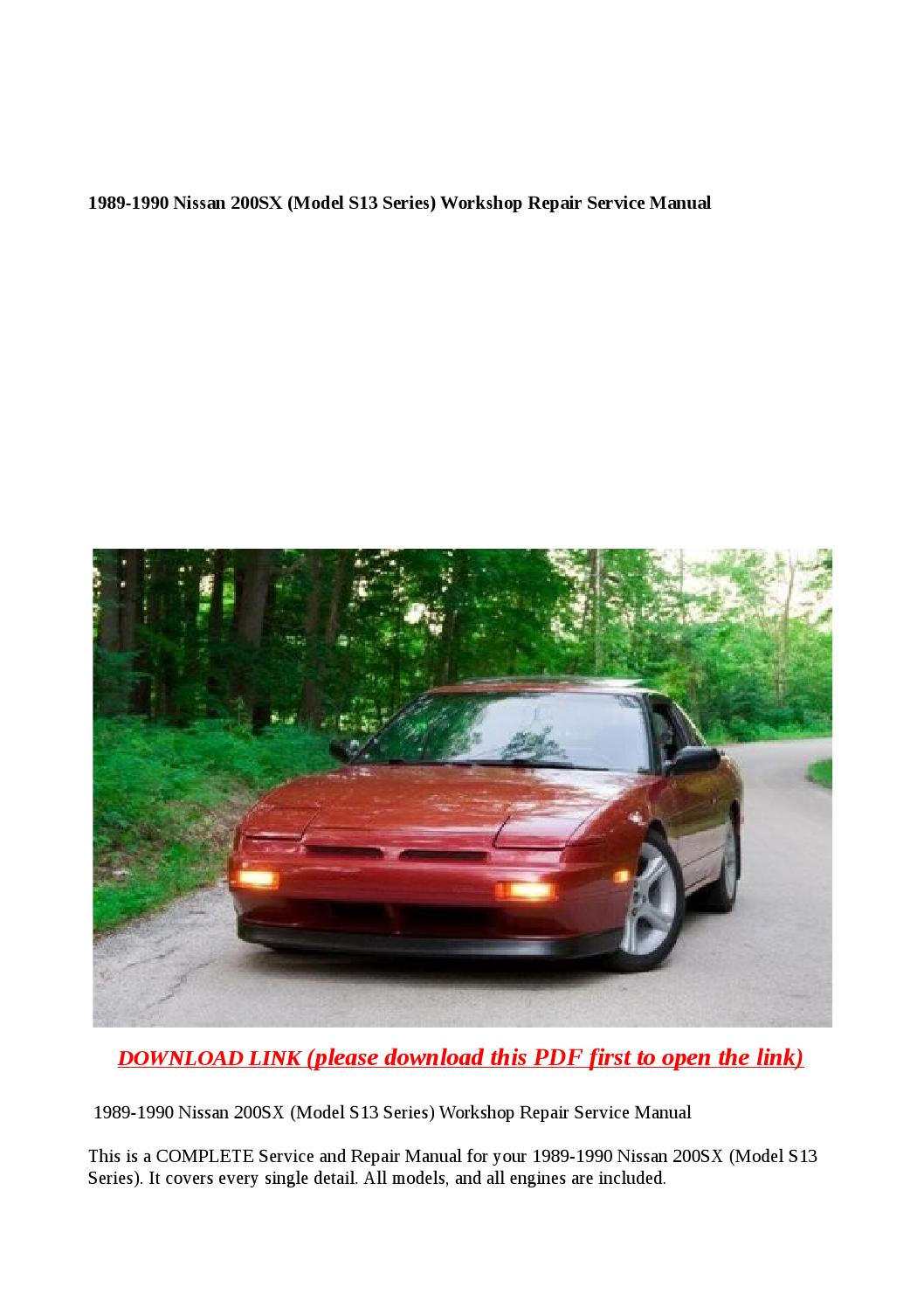 s13 service manual manual guide example 2018 u2022 rh bagelpantry com 1992 240Sx 1990 240SX Coupe