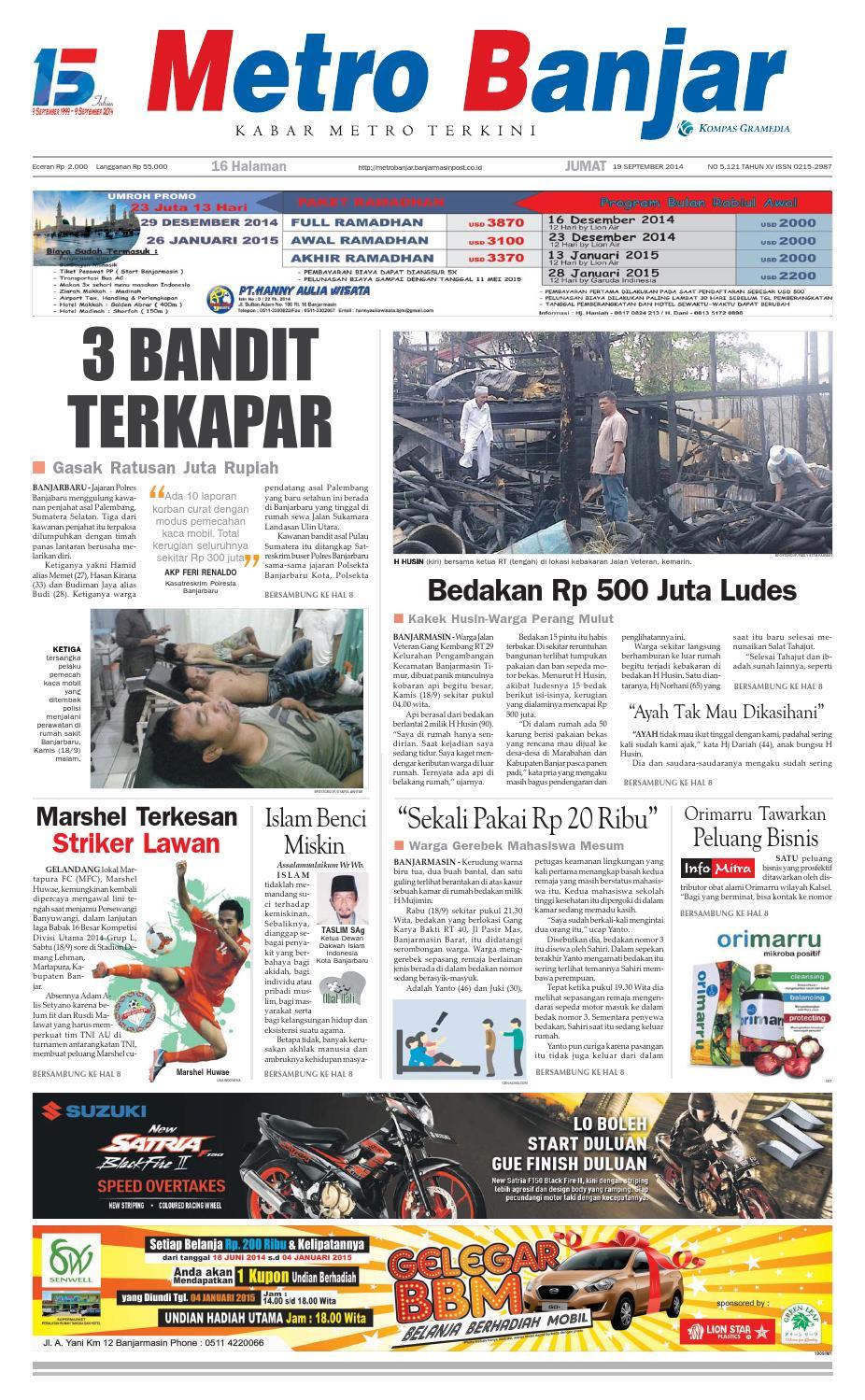 Metro Banjar Jumat, 19 September 2014 by Harian Metro ...