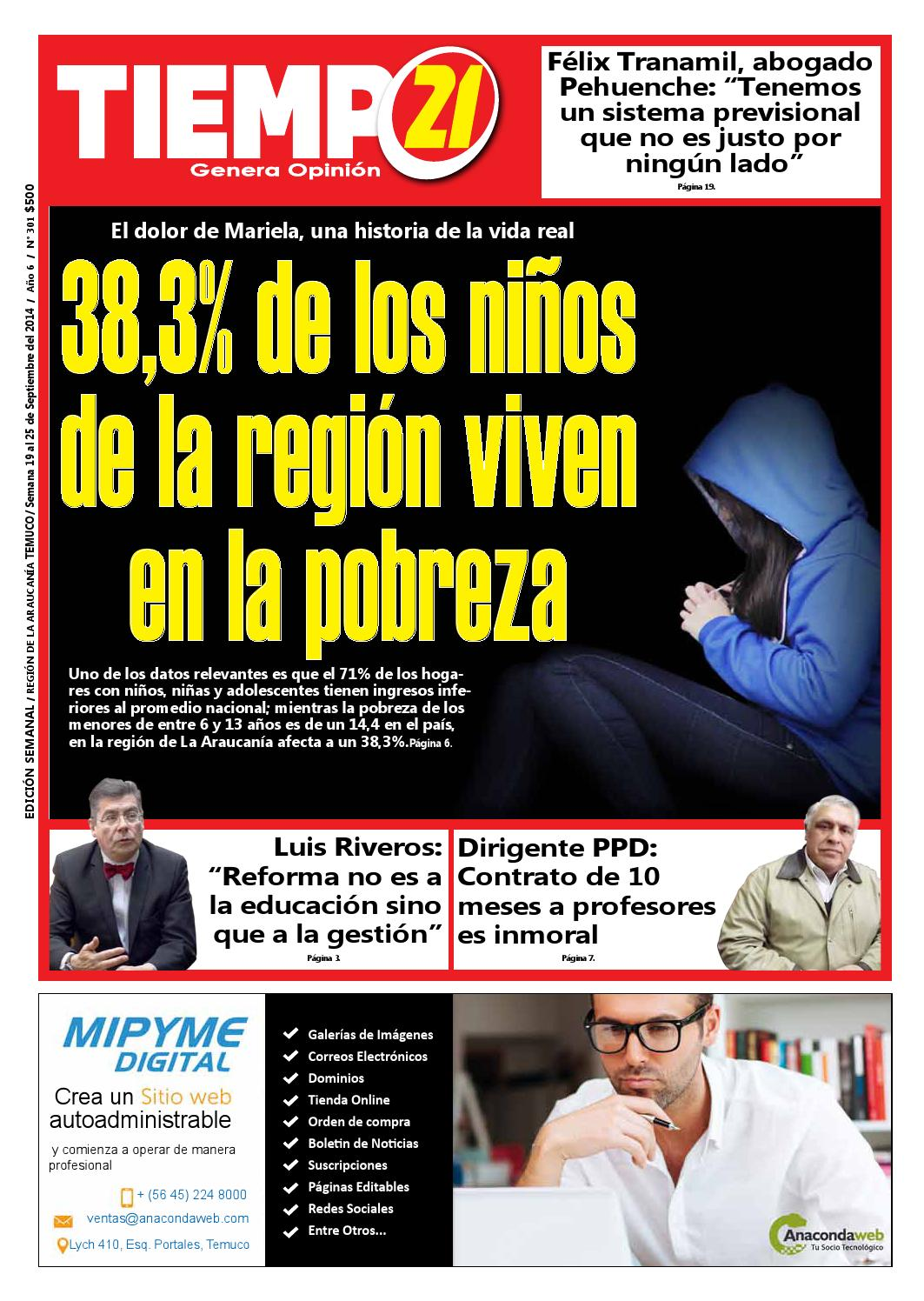 Edici N 301 38 3 De Los Ni Os De La Regi N Viven En La Pobreza  # Muebles Caupolican San Carlos