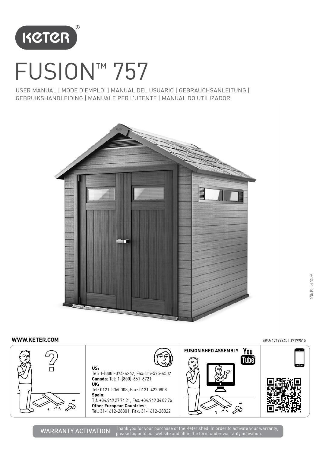 keter fusion 757 instructions