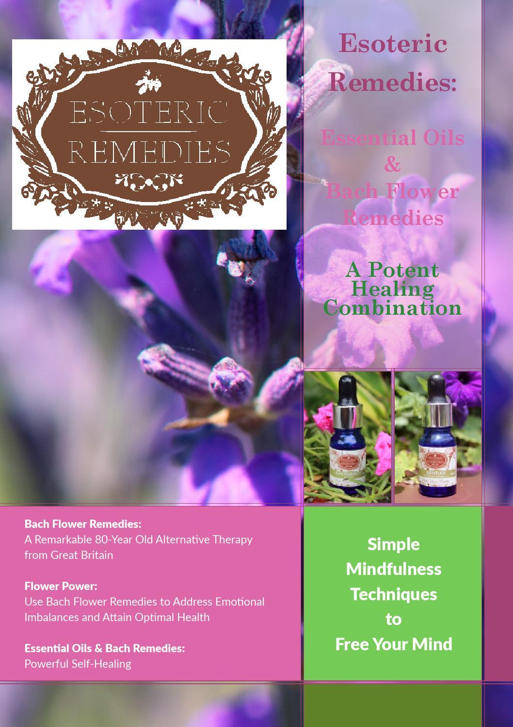 Esoteric Remedies: Essential Oils & Bach Flower Remedies - A