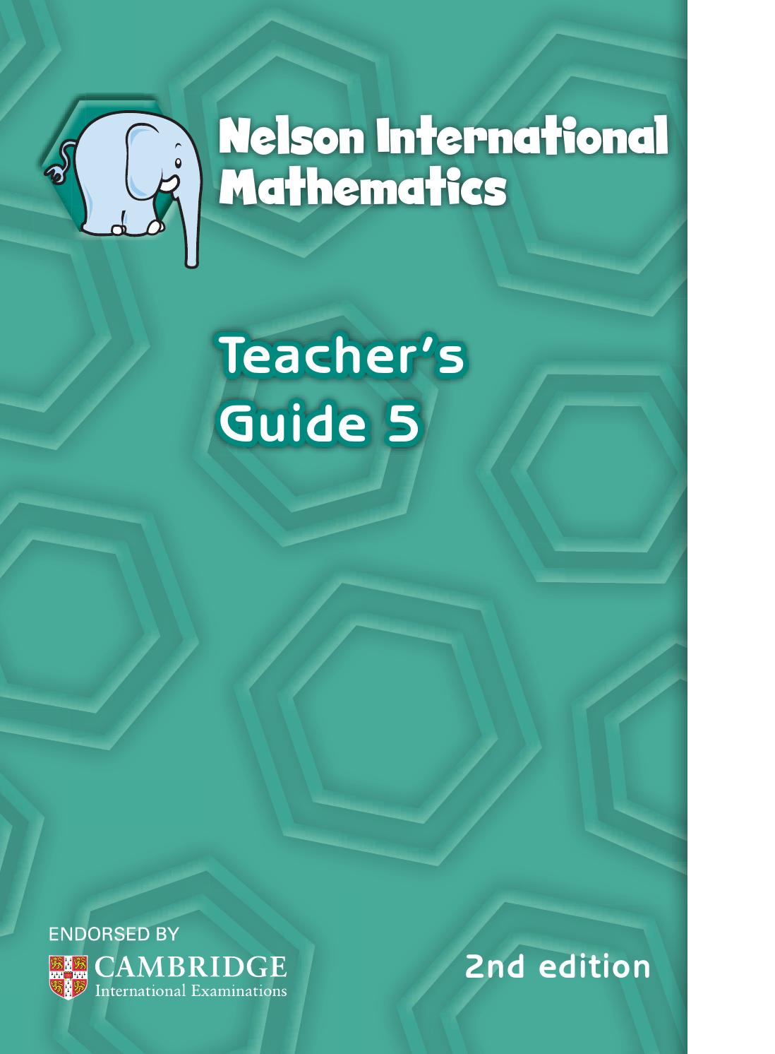 Nelson international maths teacher guide 5 by hany mufeid - issuu