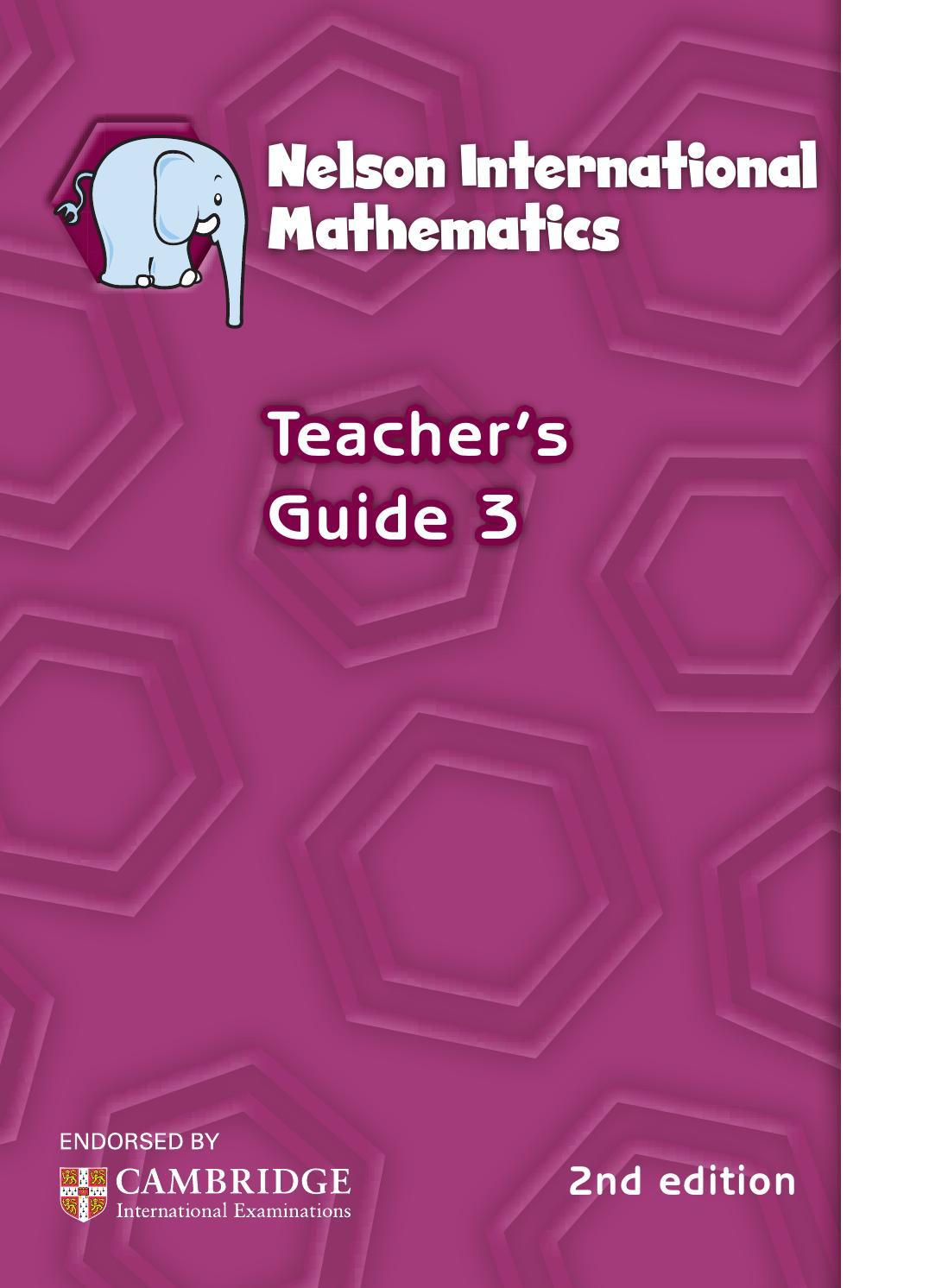 Workbooks nelson math grade 5 workbook : Nelson international maths teacher guide 3 by hany mufeid - issuu