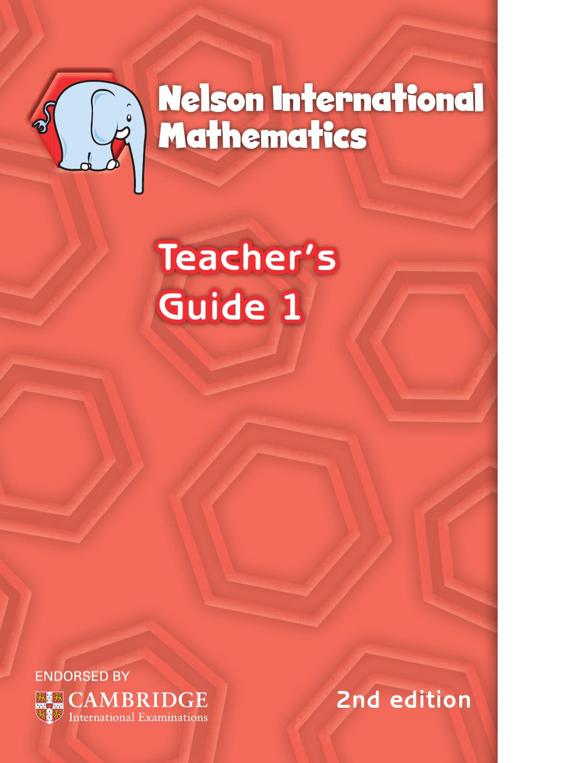 Workbooks nelson math grade 5 workbook : Nelson international maths teacher guide 1 by hany mufeid - issuu