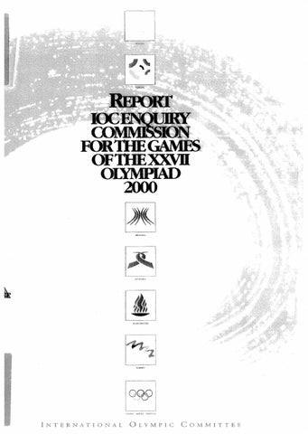 2000 Olympic Bid Evaluation Report by troy watts - issuu