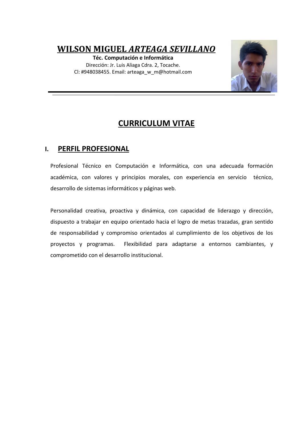 Fantástico Objetivo De Curriculum Vitae Desarrollador Web Fotos ...