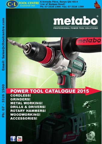 Metabo Catalogue C Amp L By C Amp L Tool Centre Pty Ltd Issuu