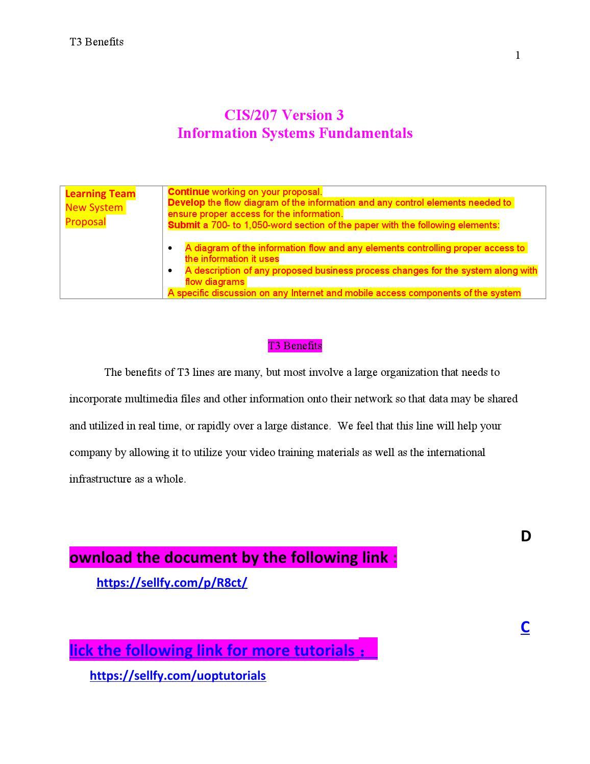 Cis 207 Week 3 Learning Team Process Flow Diagram Paper By Uses Phoenixtutor Issuu