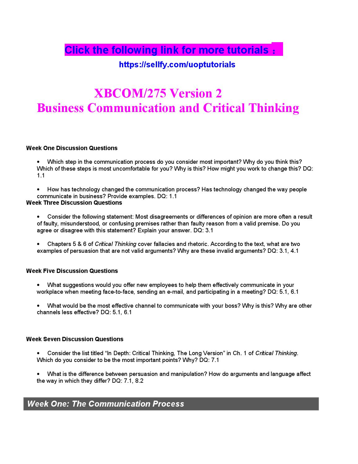 xbcom 275 entire course Bcom 275 entire course (ash) purchase here product description bcom 275 entire class individual and team assignments and dqs bcom 275.