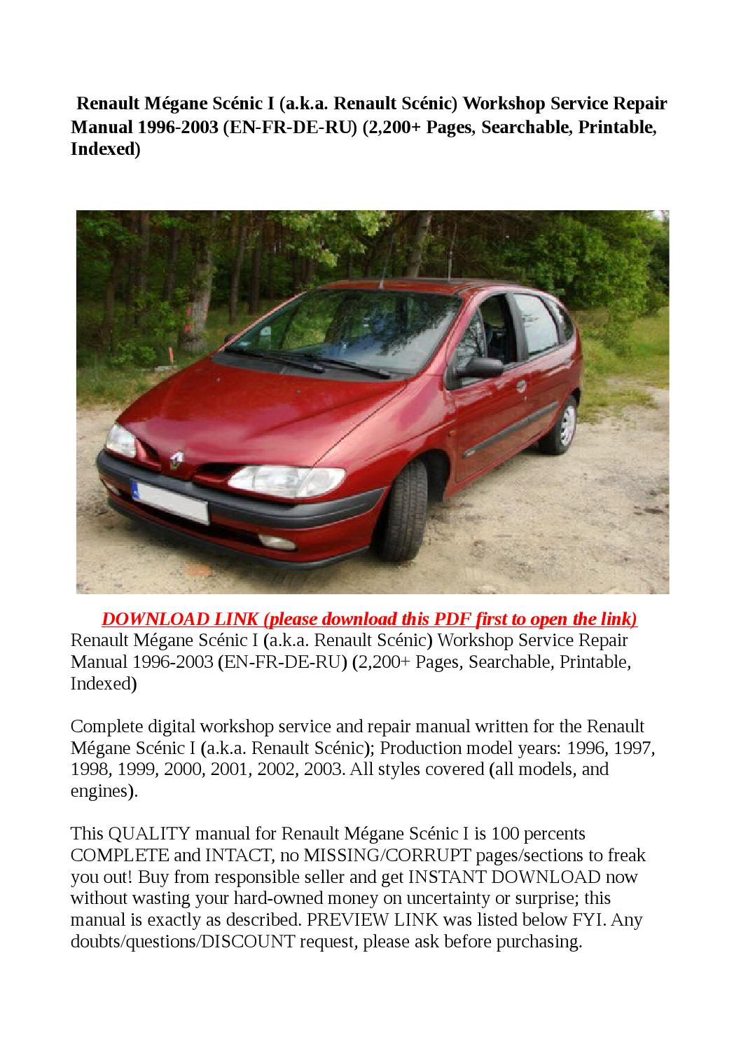 R Link Renault Scenic