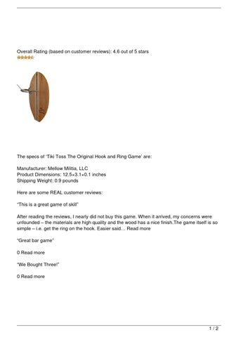 eb244af7c43 Tiki Toss The Original Hook and Ring Game Review by victoria881981 ...