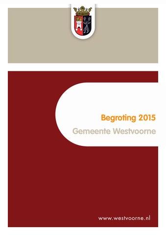 Programmabegroting 2018-2021 tablet (41 mb) by Gemeente Veldhoven ...