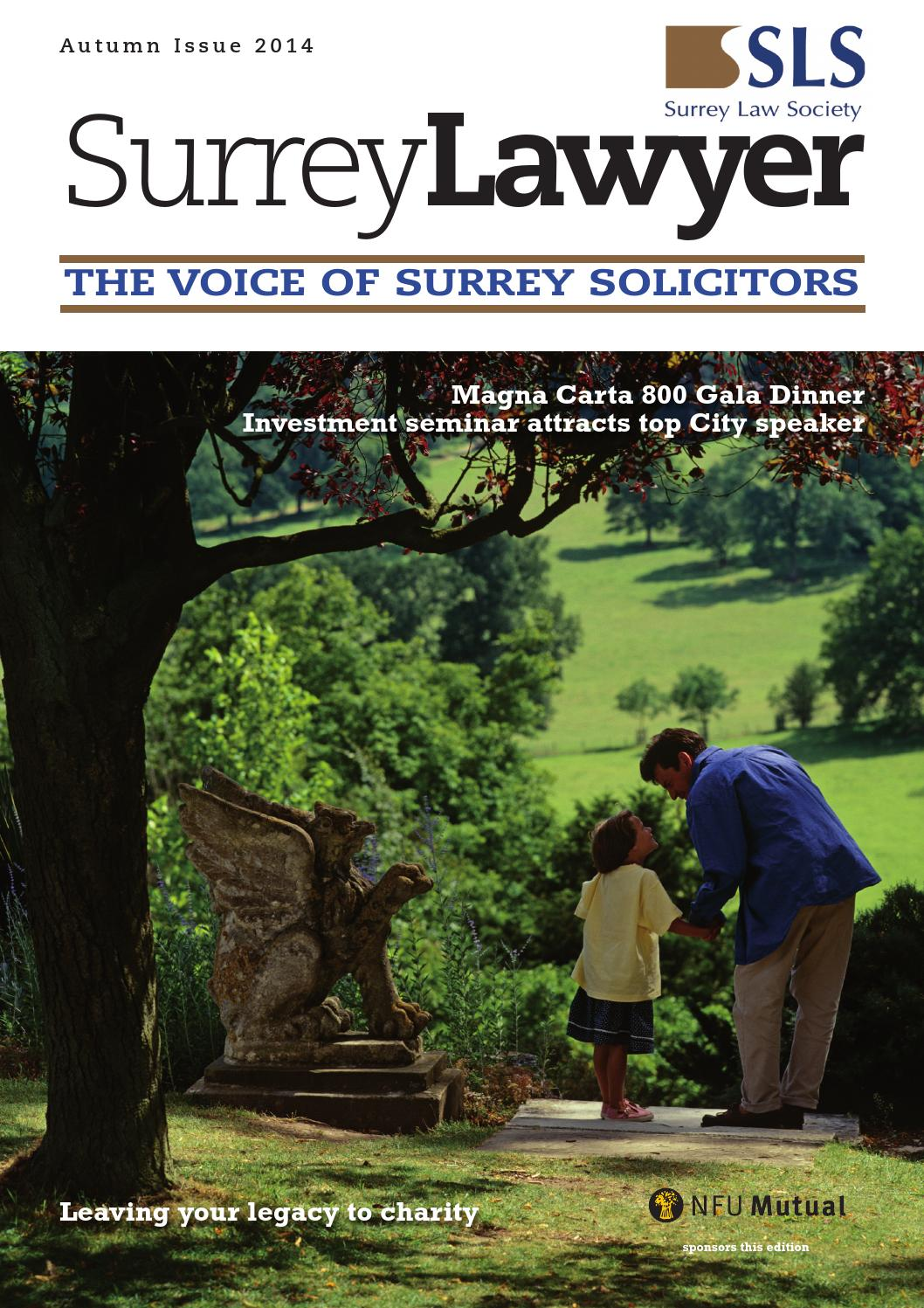 Surrey Law Society Magazine September 2014 by Benham ...