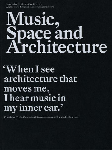 Music space architecture by amsterdam academy of for Definition of form and space in architecture