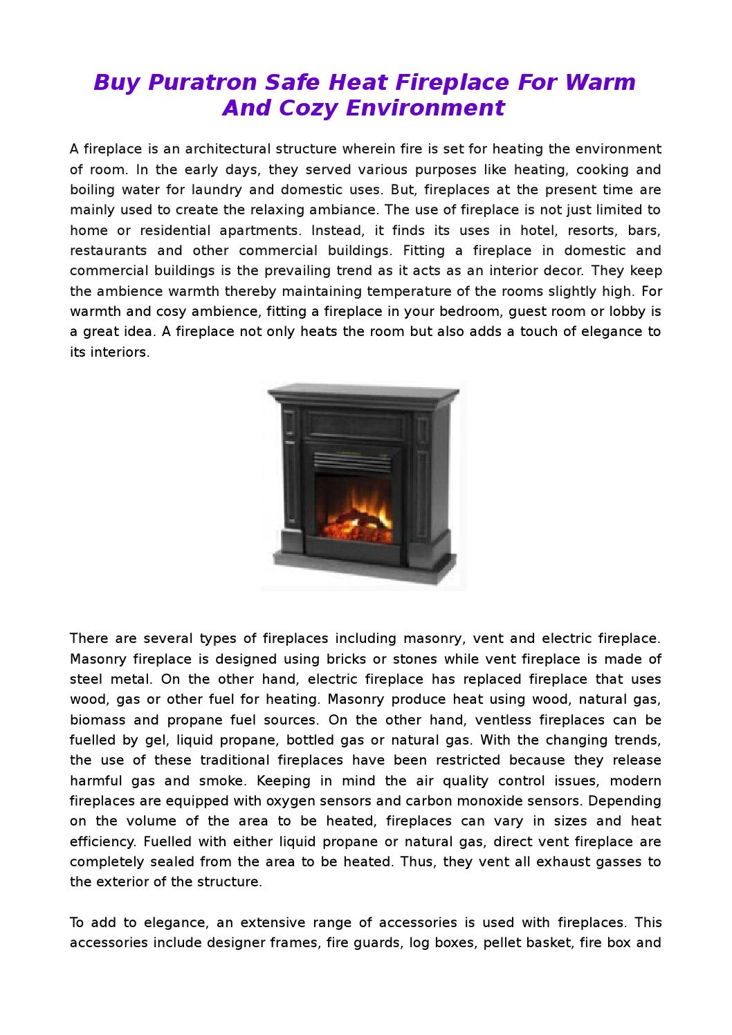 Superb Puratron Fireplace Insert Part - 7: Buy Puratron Safe Heat Fireplace For Warm And Cozy Environment By Caitlin  Melba - Issuu