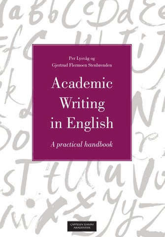 Tenses in Academic Writing