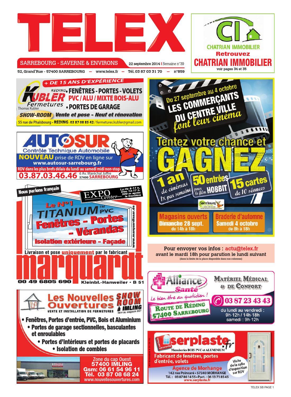 Telex sarrebourg 3914 by claude vervin issuu for Rdv en ligne garage